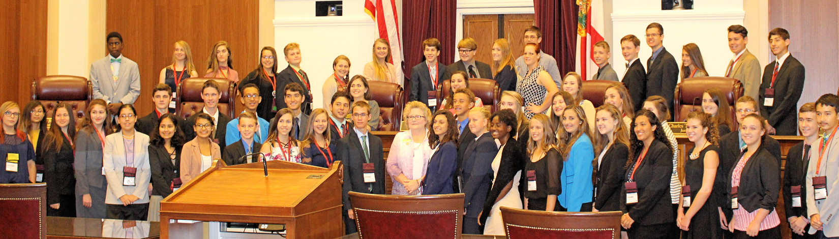 4-H youth at the Florida Supreme Court